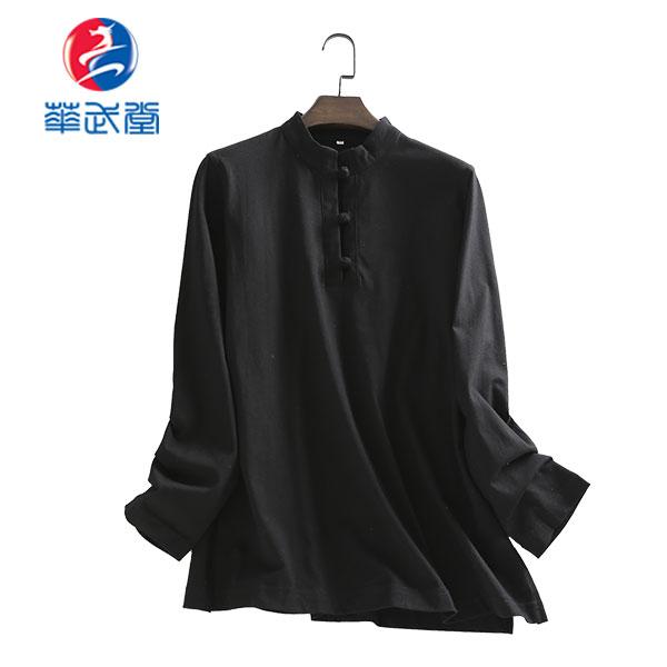 チャイナタイプ長袖太極拳Tシャツの画像