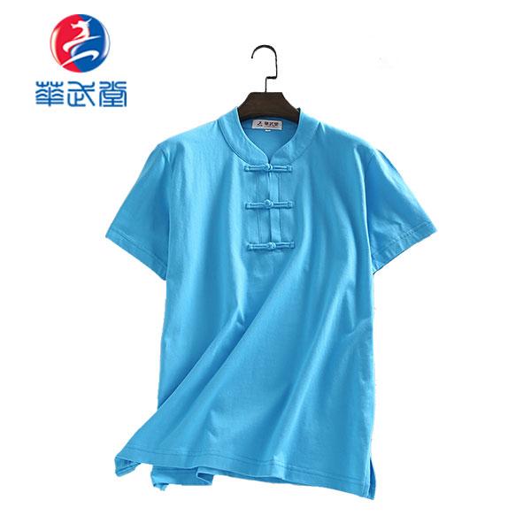 チャイナタイプ半袖太極拳Tシャツの画像