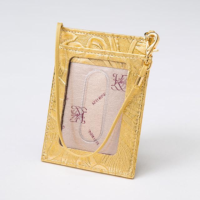 クオイドーロ切符定期入れ(ゴールド)の画像