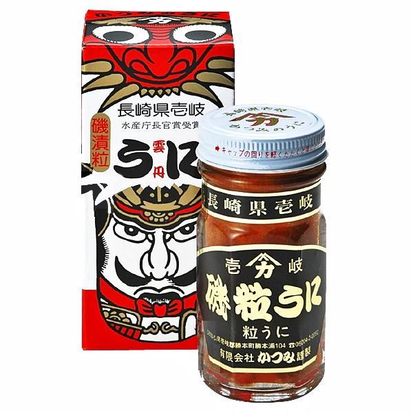磯漬粒うに 70g瓶詰 化粧箱入  保存性も高く、塩分を極力控えた粒うに 壱岐 かつみのうにの画像
