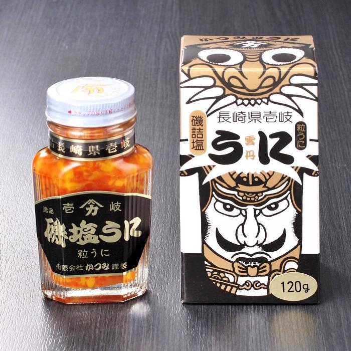 磯塩うに 120g瓶詰 化粧箱入 |低温熟成・磯の香りの粒ウニ |壱岐 かつみのうにの画像