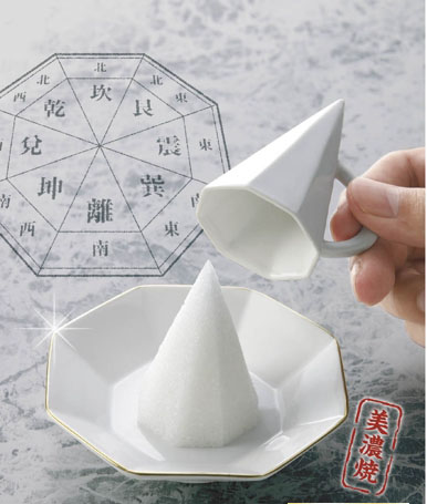 八角盛塩セットの画像
