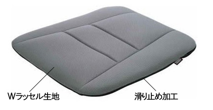 薄型クッションの表面素材