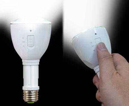 充電式LED省エネ電球画像