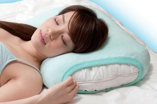 ひんやりパイル編みの枕カバー画像
