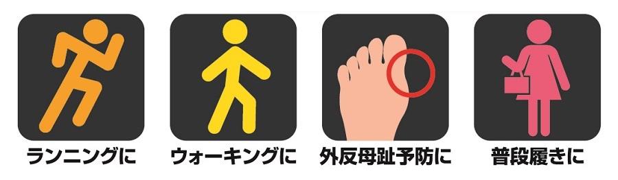 ランニング、ウォーキング、外反母趾予防