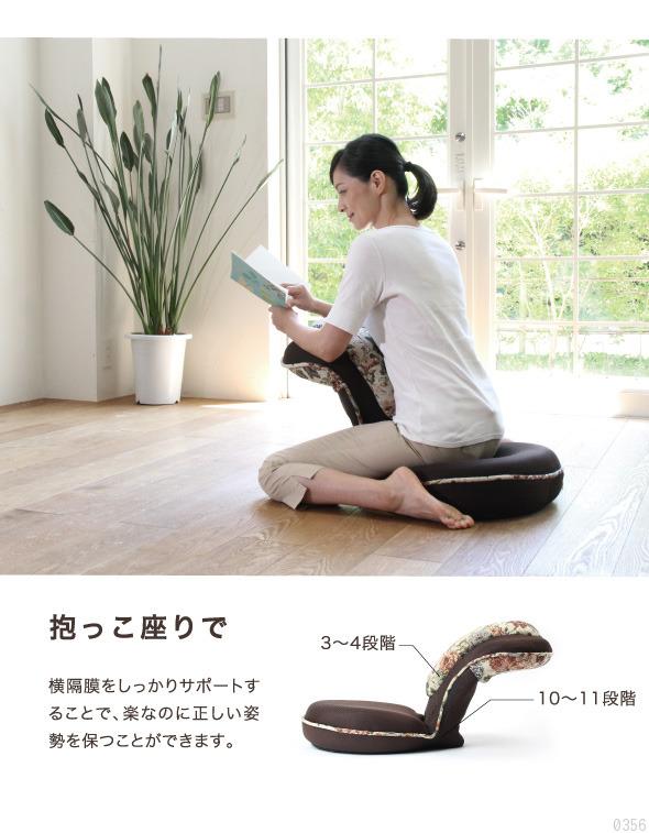 抱っこ座りで横隔膜をしっかりサポートすることで楽な姿勢を保つことができます