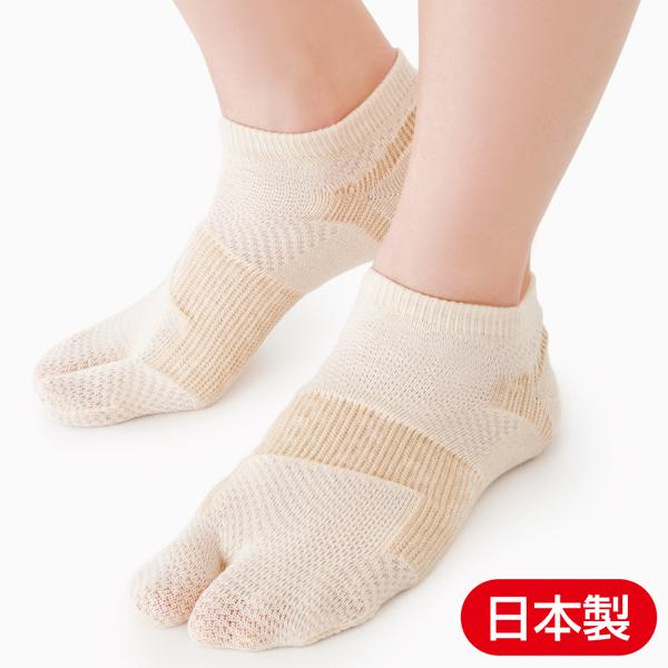 履くだけカンタン。外出中もこっそり外反母趾をサポート「薄手でしっかり外反母趾サポートソックス」