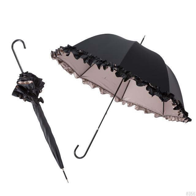 白川みきのおリボンUVカットフリル日傘の画像