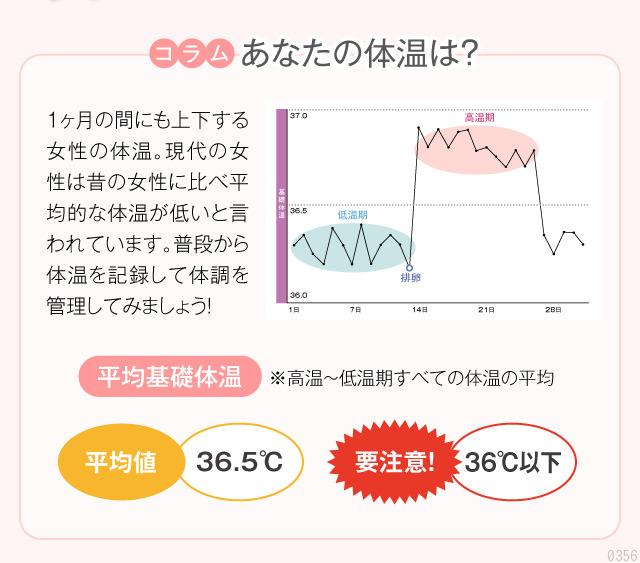 コラム「あなたの体温は?」平均基礎体温、36度以下は要注意!