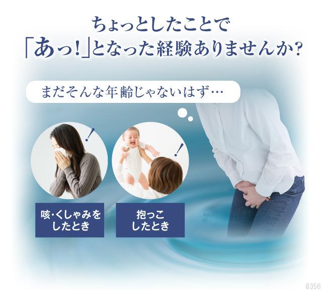 咳、くしゃみをしたとき、ちょっとしたことで尿もれになった経験はありませんか