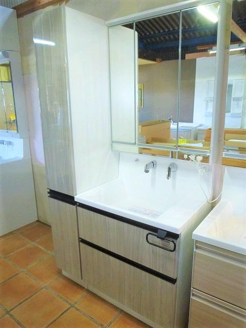タカラスタンダード洗面化粧台エリシオ W750洗面化粧台+W300収納庫画像
