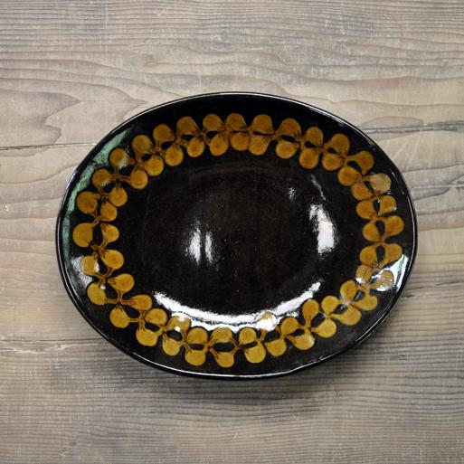 スリップウェア カレー皿画像