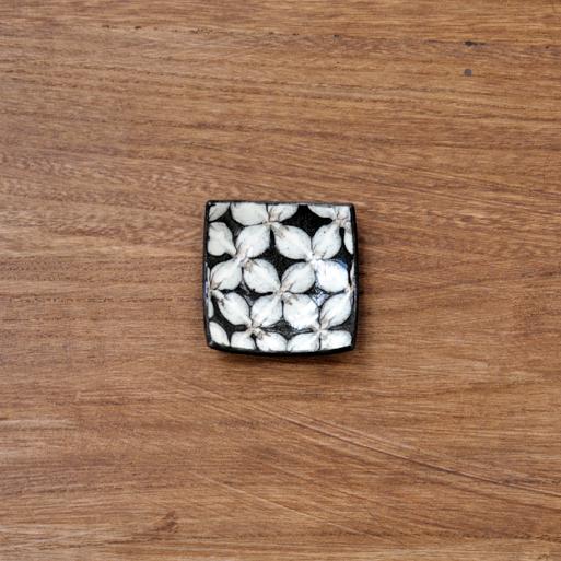 スリップウェア 角豆鉢画像