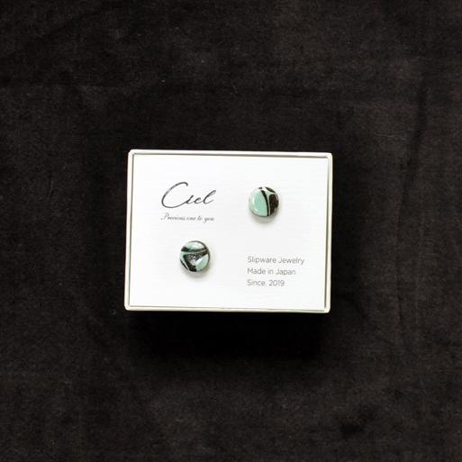 Ciel ピアス (s) green 丸画像