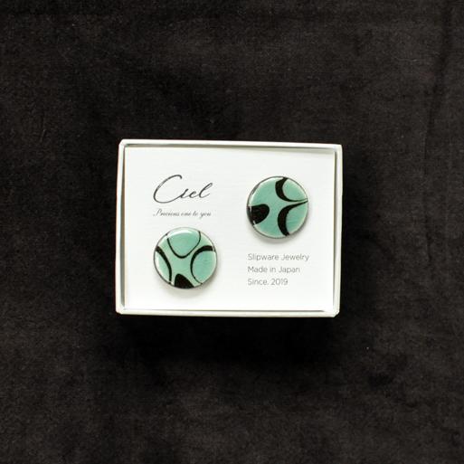 Ciel ピアス (L) green 丸画像