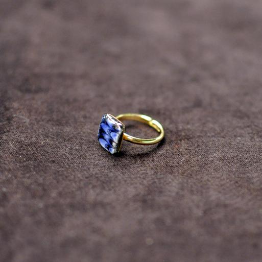 Ciel リング ピンキー3号フリー blue 四角画像