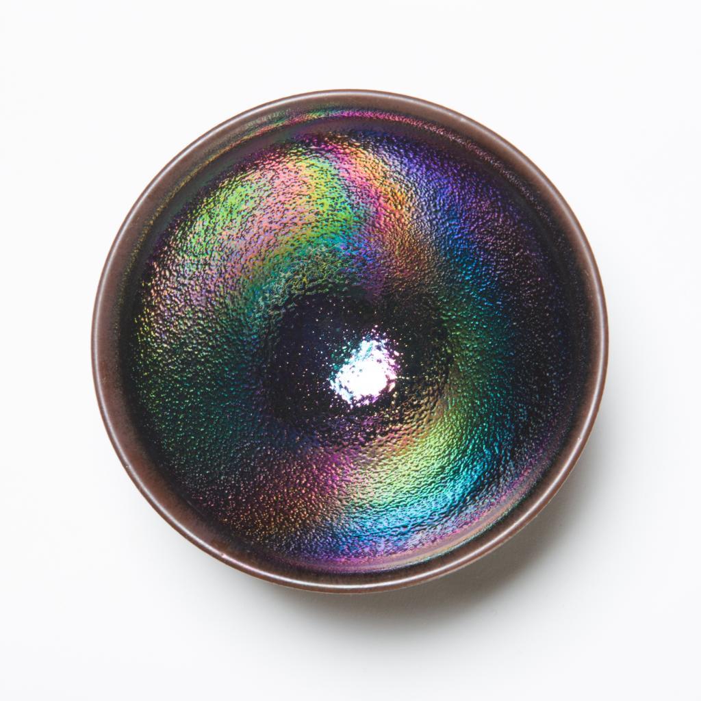 ゆず肌天目茶碗<虹の器>の画像