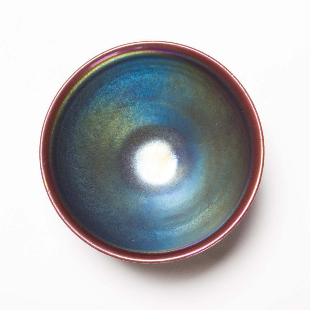 オーロラ天目茶碗<虹の器>の画像