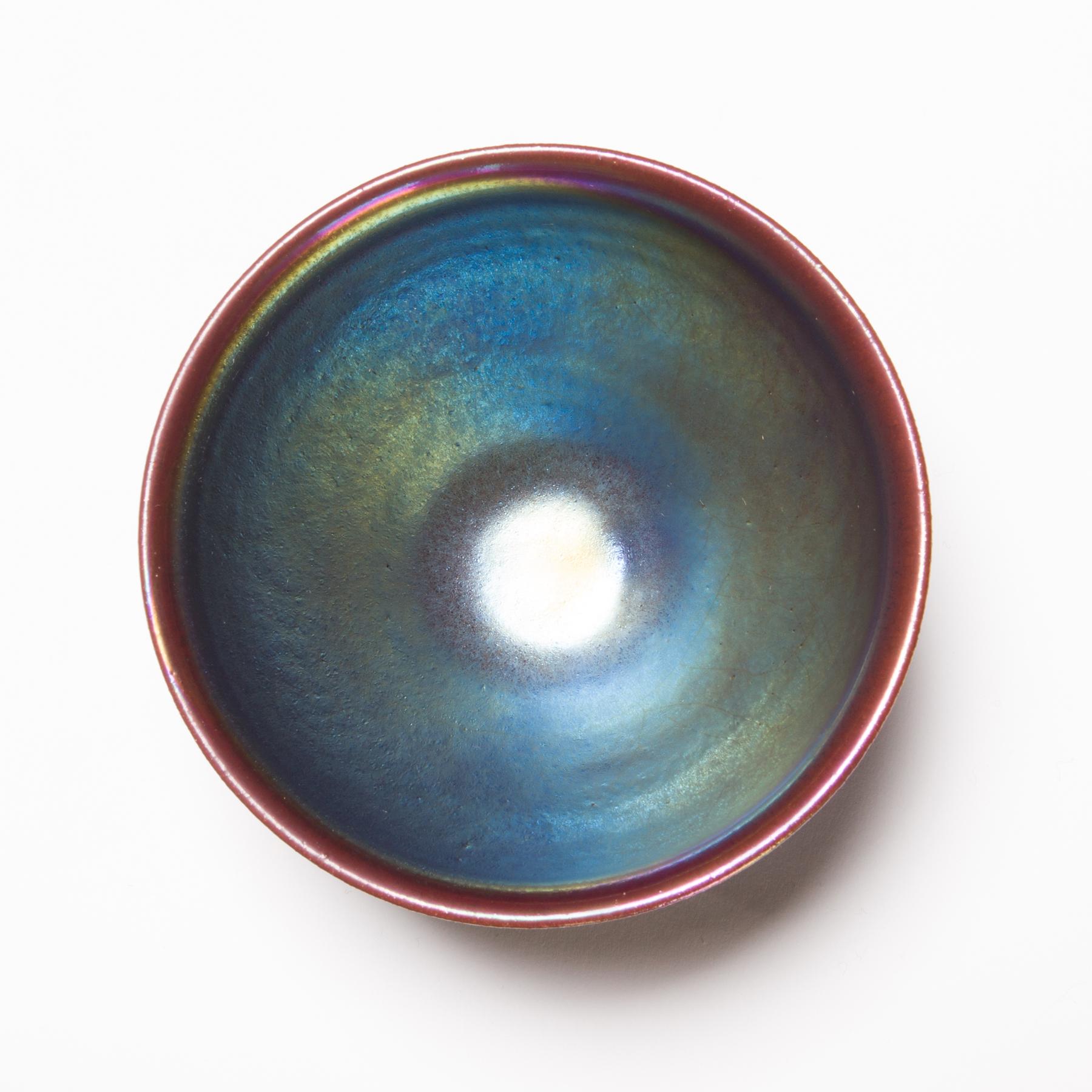 オーロラ天目茶碗<虹の器>画像