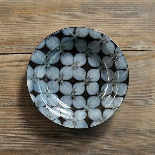 スリップウェア 7寸リム皿画像
