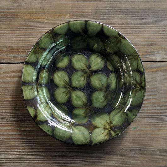 スリップウェア 8寸リム皿の画像