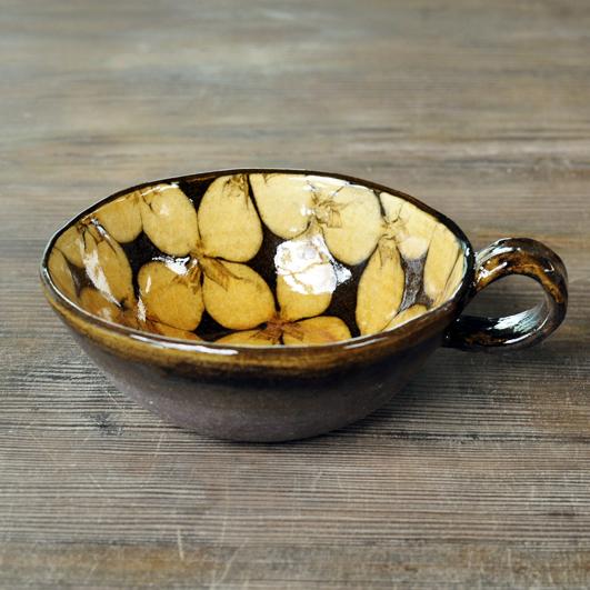 スリップウェア スープカップ画像