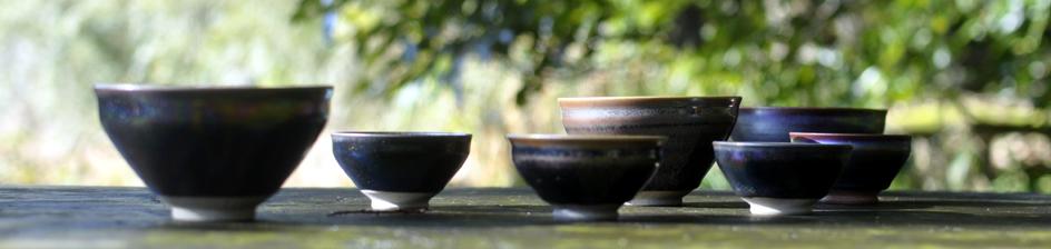 生楽陶苑・虹の器シリーズ(曜変天目茶碗・ぐい呑み)