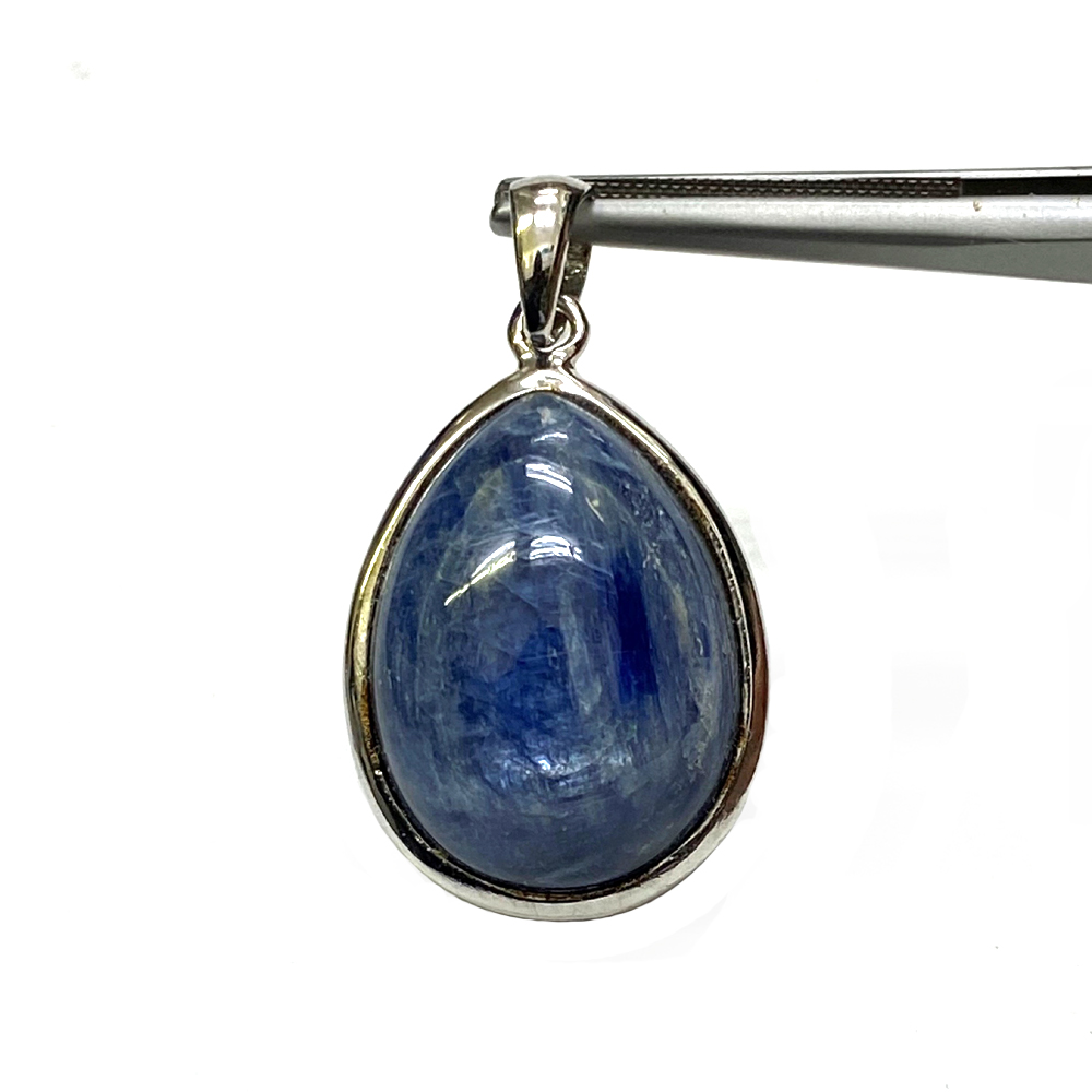 天然石 カイヤナイトのペンダント (ネックレス) 202 シルバーチエーン・シルバー磨き用布付画像