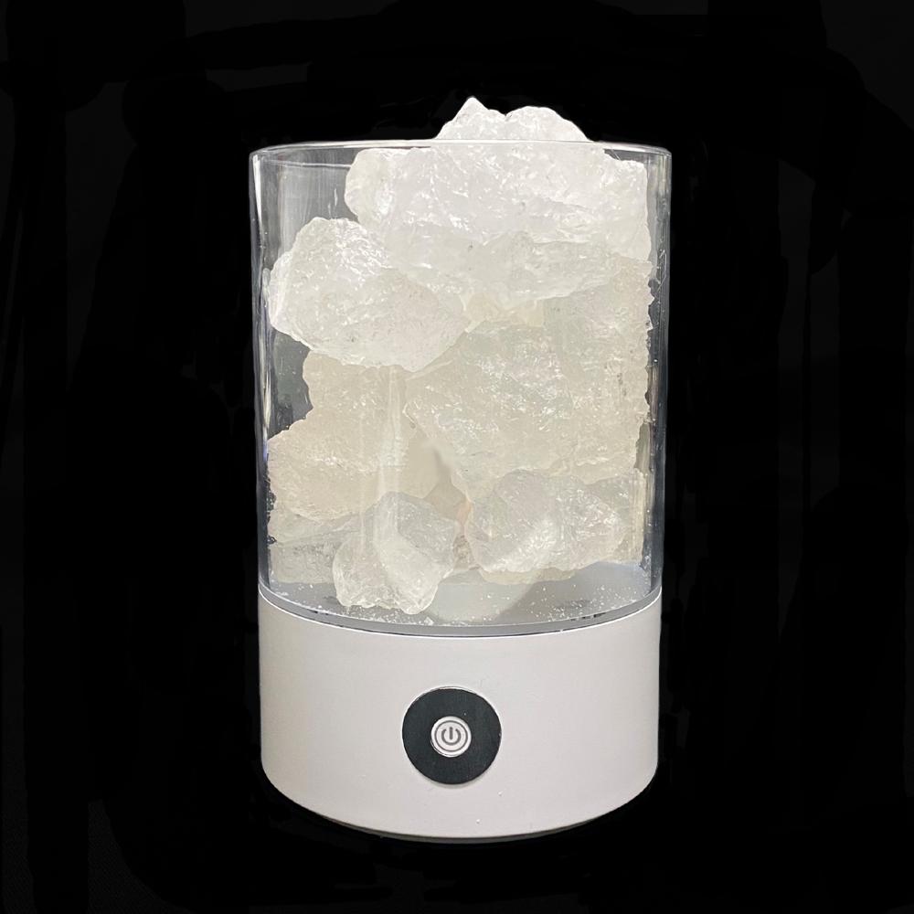 ヒマラヤ岩塩 LEDランプ クリスタルソルト ピンクソルト 岩塩ランプ ソルトランプ  (ホワイト)画像