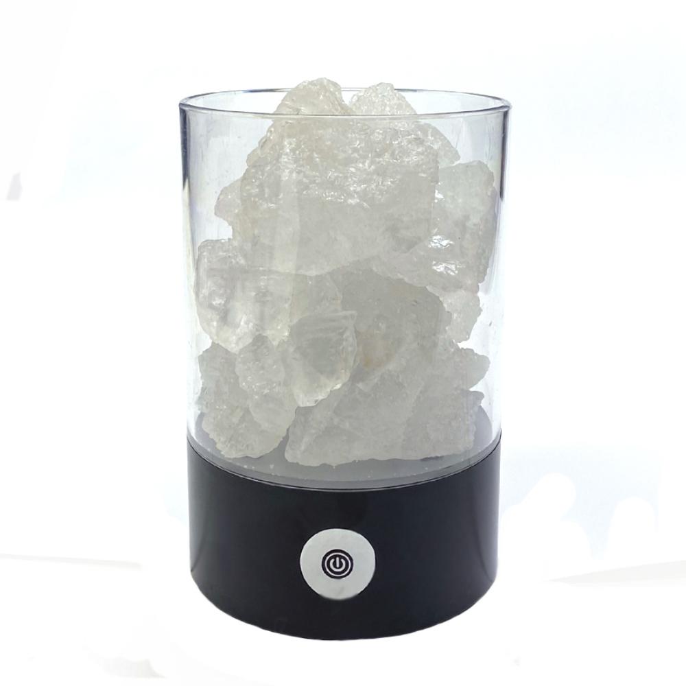 ヒマラヤ岩塩 LEDランプ クリスタルソルト ピンクソルト 岩塩ランプ ソルトランプ  (ブラック)画像