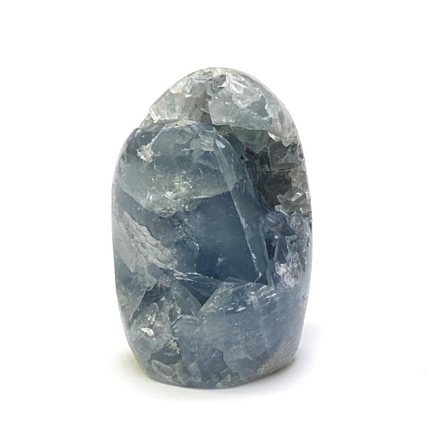 天然石  セレスタイト 天青石 原石  クラスター (211) 鉱物 鉱石 標本 置物 画像