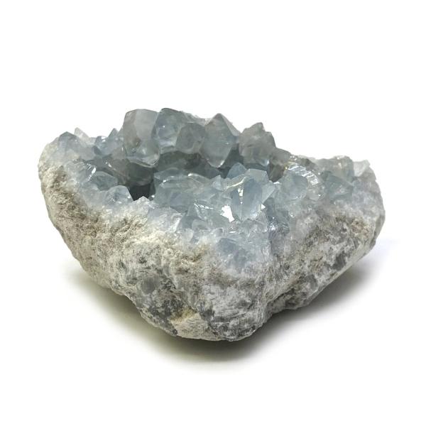 天然石  セレスタイト 天青石 原石 クラスター (227) 鉱物 鉱石 標本 置物 画像