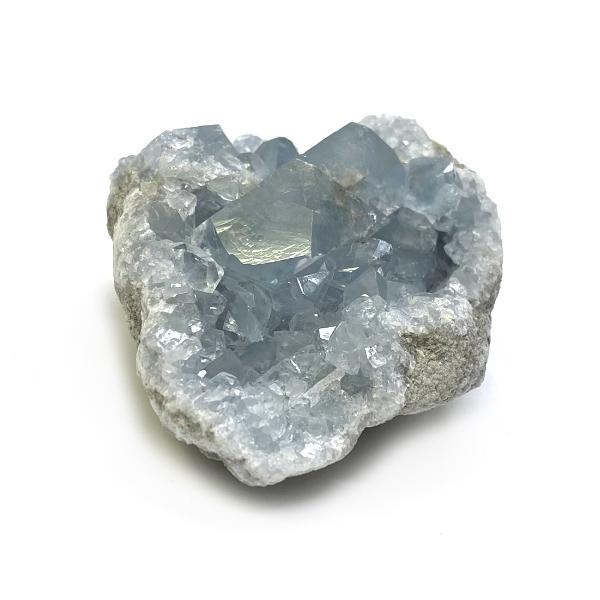 天然石  セレスタイト 天青石 原石 クラスター (229) 鉱物 鉱石 標本 置物 画像