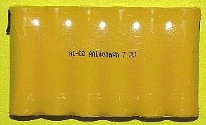 ニッカド充電池6本組7.2V1000mAh画像