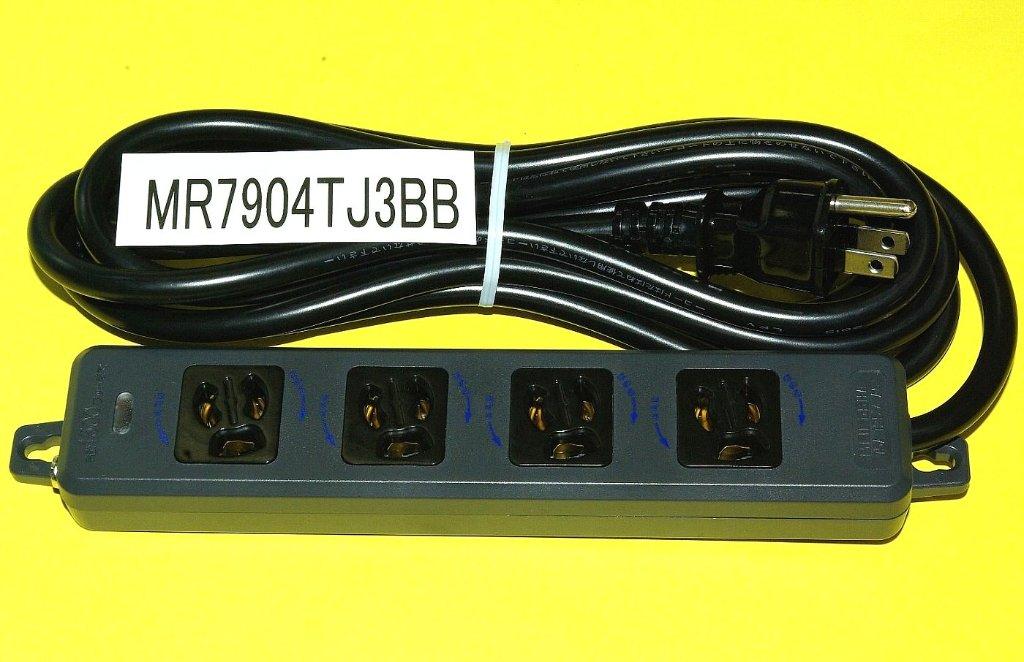 黒い電源 タップ3mコード付の画像