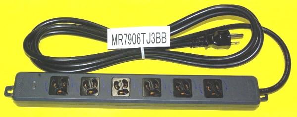 黒い電源タップ6個口MR7906TJ3BB