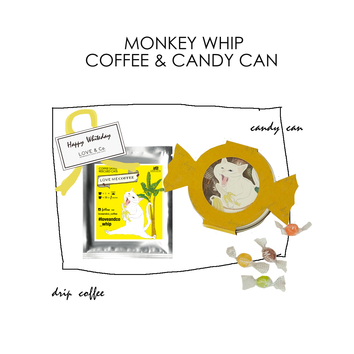 WHITEDAY GIFT B (コーヒー&缶入りキャンディー)画像