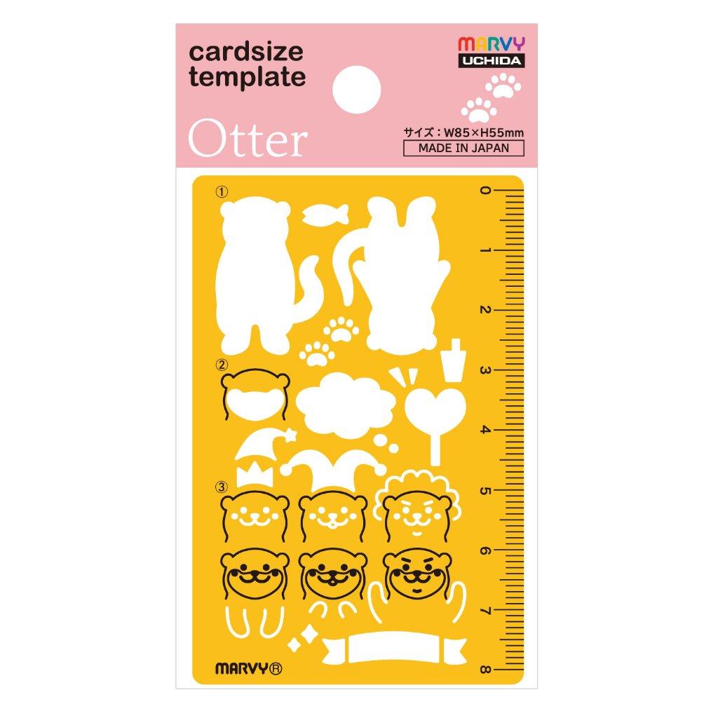 No.8822-835 カードサイズテンプレート カワウソ (Other)の画像