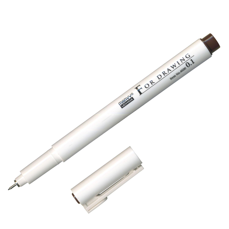 ミリペン FOR DRAWING ダークブラウン 単品 0.1mm画像