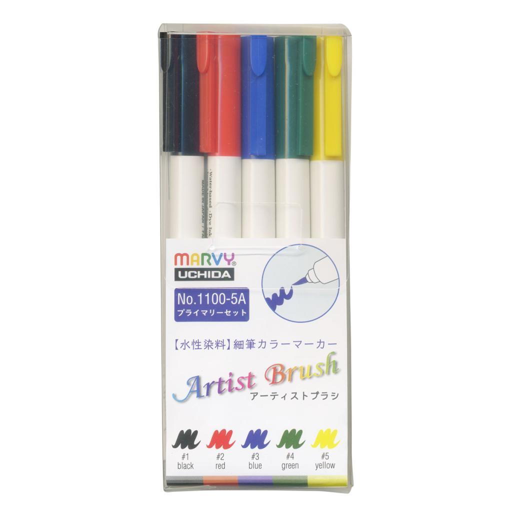 アーティストブラシ 5色プライマリーセットの画像
