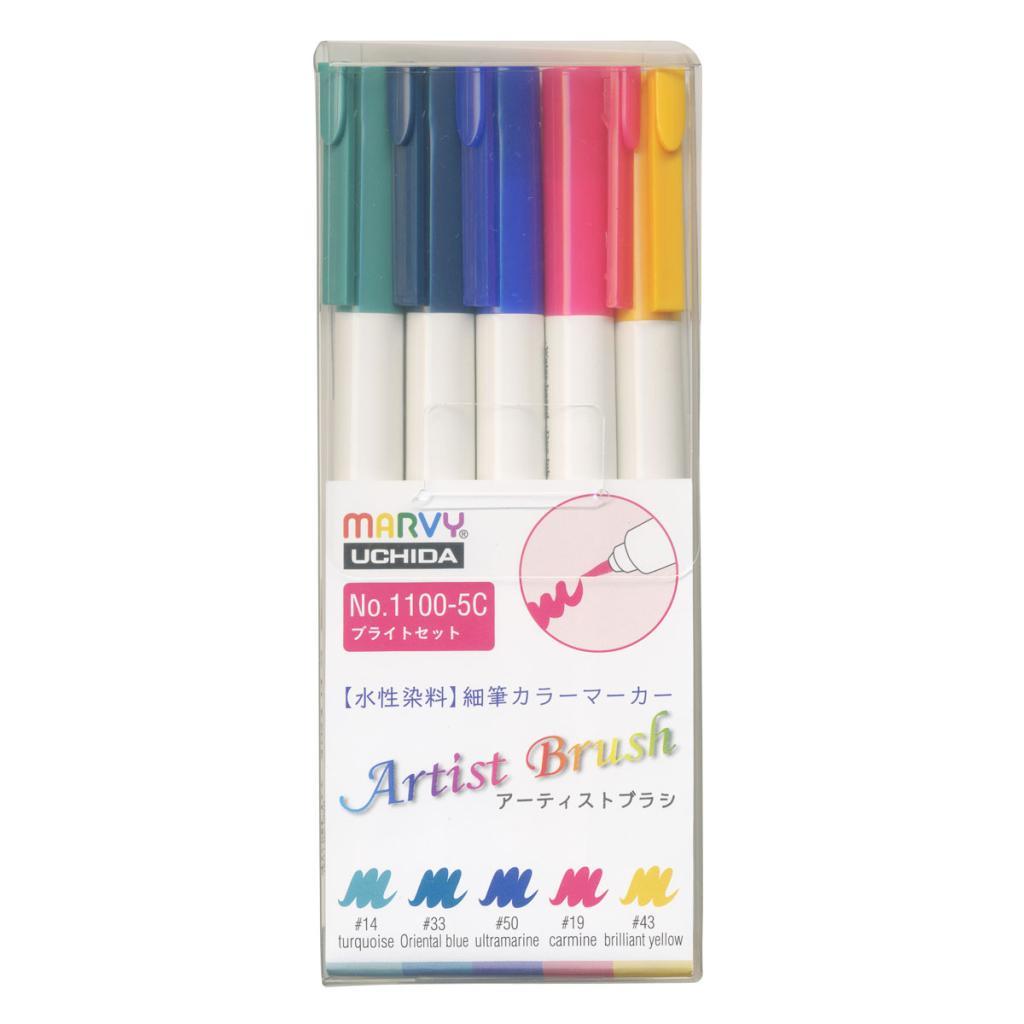 アーティストブラシ 5色ブライトセットの画像