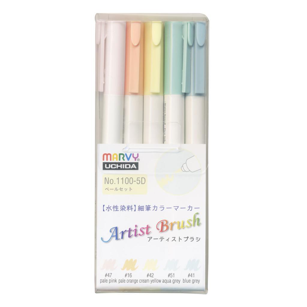 アーティストブラシ 5色ペールセットの画像