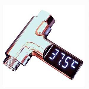 メッキデジタル温度計