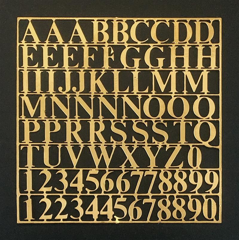 きりぬき文字(真鍮)画像