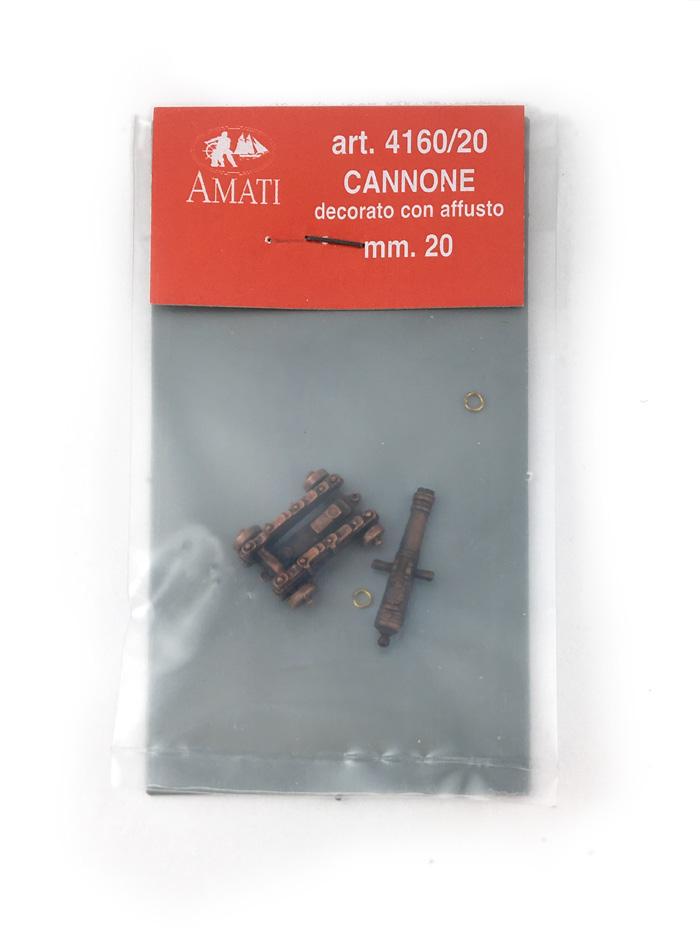 装飾付大砲(架台付・メタル)20mm/1セット(1)画像