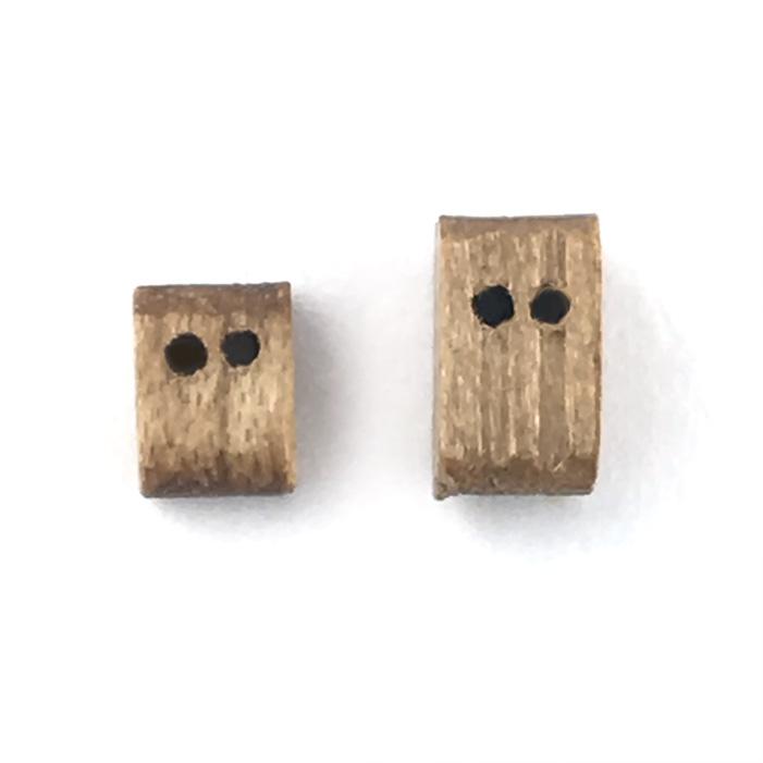 ダブルブロック(ウオールナット)(10コ)の画像