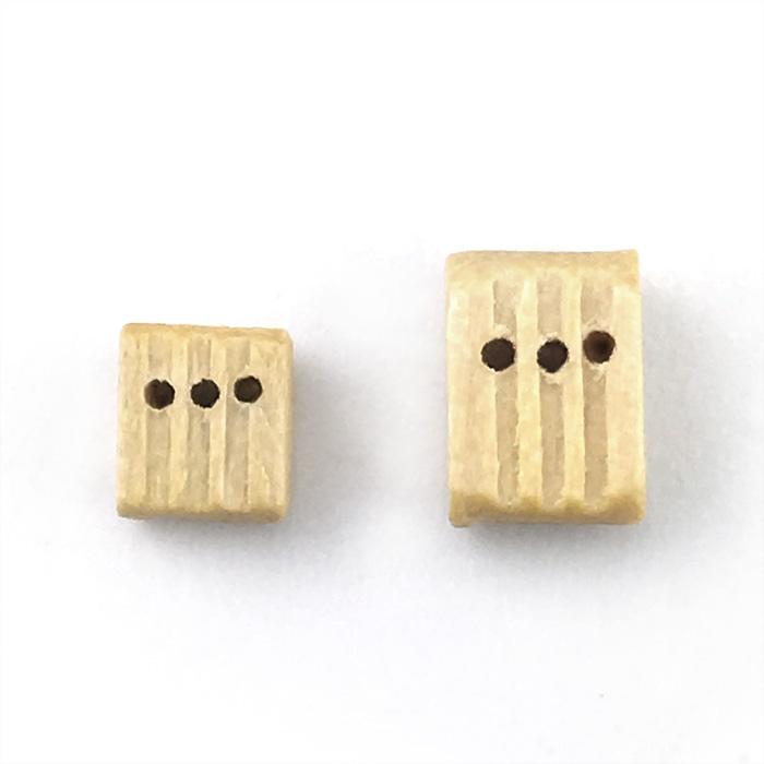 トリプルブロック(柘植)(10コ)の画像