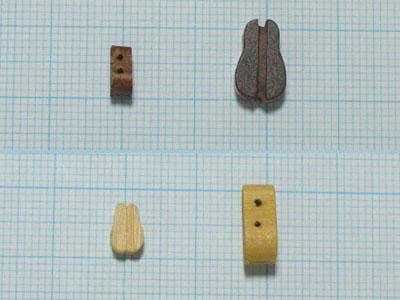 シングルヴァイオリンブロック(ウオールナット)(2コ)の画像
