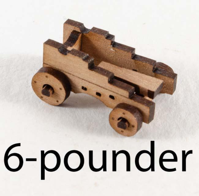 6ポンド砲架台 2門分(キャリッジ部分のみ 19mm)画像